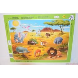 Szafari állatok formaberakó puzzle játék