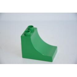 Lego Duplo zöld homorú elem