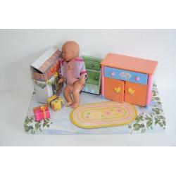 Baby Born Miniworld készlet: karácsonyi kiegészítőkkel