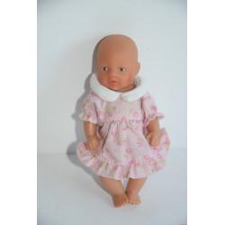 Baby Born Miniworld baba virágos rózsaszín ruhában
