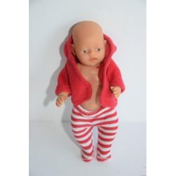 Baby Born Miniworld baba piros szettben
