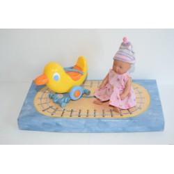 Baby Born Miniworld készlet: baba kacsával