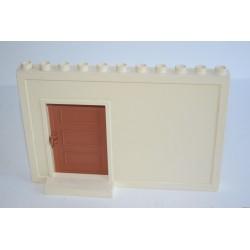 Lego Duplo fehér fal ajtóval