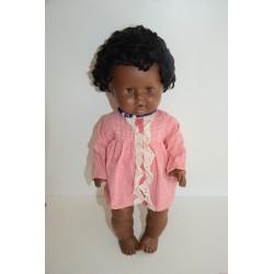 Ritkaság! Vintage Schildkrot fekete sírós, pislogós baba