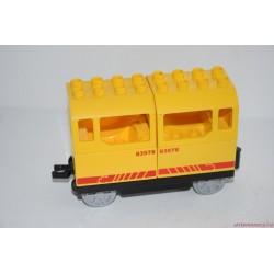Lego Duplo sárga vagon, vasúti kocsi