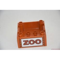 Lego Duplo rakomány elem: ZOO állatkert autóra