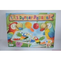 1, 2, 3 bunter Papagei: 1, 2, 3 színes papagáj színkereső társasjáték