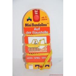 Mini Bandolino Set 26 készségfejlesztő párosító játék Építkezés