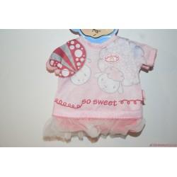 Baby Annabell So Sweet bárányos rózsaszín ruha