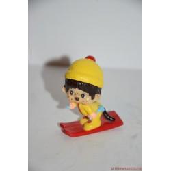 Vintage síelő Moncsicsi gumifigura