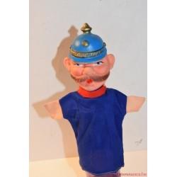 Vintage csendőr kézzel festett gumifejű báb