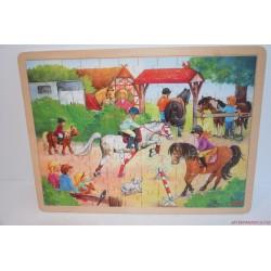 Pónis fa képkirakó puzzle játék