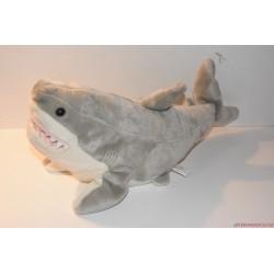 Élethű plüss fehér cápa