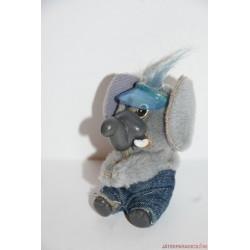 Vintage csíptetős elefánt kapaszkodó figura