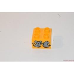 Lego Duplo egér képes kocka elem