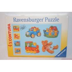4 x Contura puzzle kirakó játék Új!