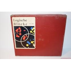 Vintage Logische Blöcke Logikai formák készségfejlesztő társasjáték