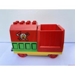 Lego Duplo piros tűzoltó vagon, vasúti kocsi