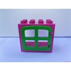 Lego Duplo rózsaszín ablak