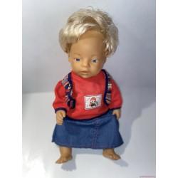 Szőke hajú Baby Born pisilős baba