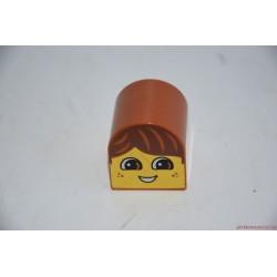 Lego Duplo fej elem: barna hajú kisfiú