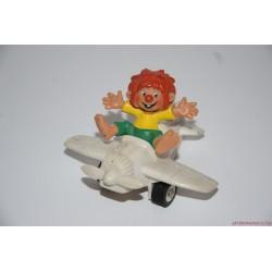 Vintage Bully Pumukli gumifigura repülőben