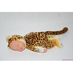 Anne Geddes fekvő leopárd plüss baba