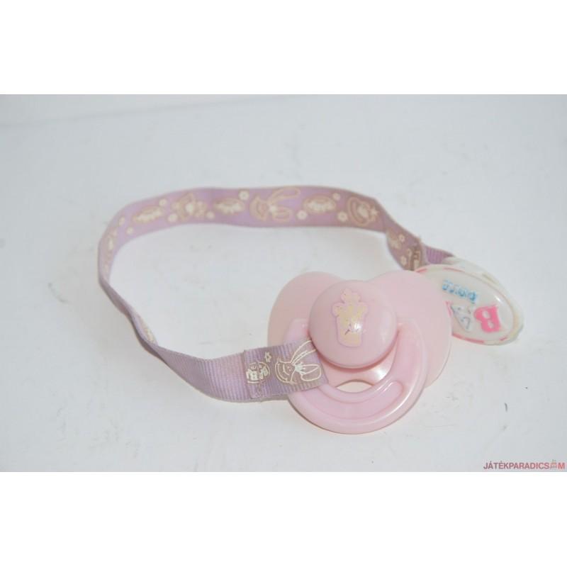 Baby Born rózsaszín mágikus cumi csíptetővel