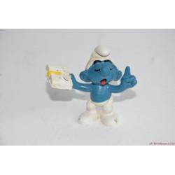 Vintage Schleich Hupikék törpikék: Okoska figura