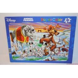 Disney: 101 kiskutya lapos puzzle kirakós játék