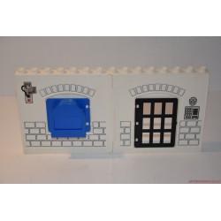 Lego Duplo fogda, börtön fal elem nyitható ajtóval