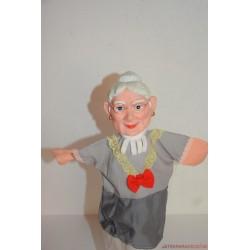 Vintage nagymama gumifejű báb