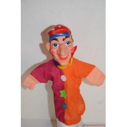 Vintage bohóc kézzel festett gumifejű báb