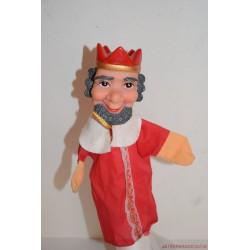 Vintage király kézzel festett gumifejű báb