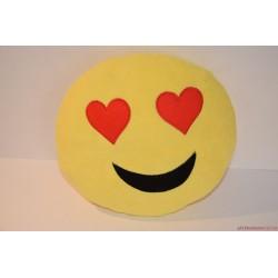 Smiley Emoji szívecskés plüss párna