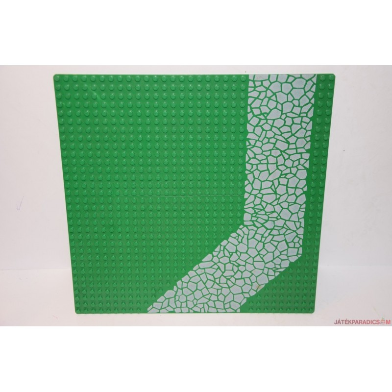 Lego zöld alaplap köves úttal