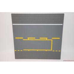 Lego szürke út alaplap sárga útfestéssel