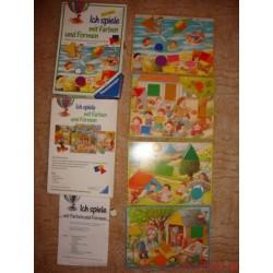Játék a formákkal és színekkkel társasjáték