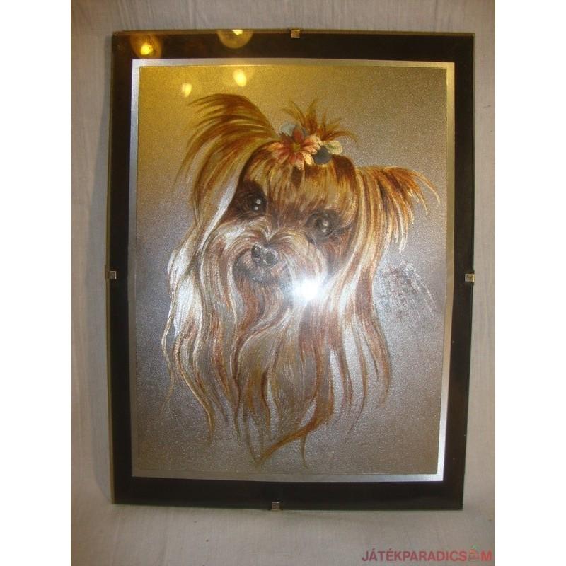 Yorkshire Terrier kutyusos falikép