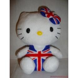 Sanrio Hello Kitty plüss cica angol zászlós ruhában