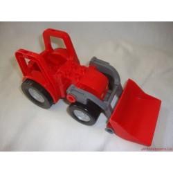 Lego Duplo piros, emelős traktor