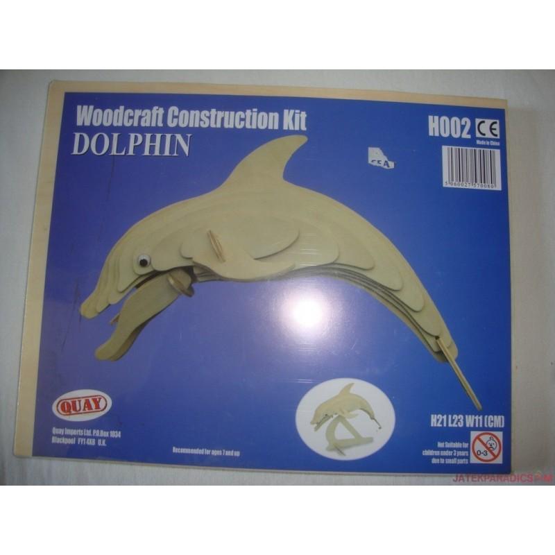 Woodcraft Constuction Kit - 3D fa puzzle készlet - BI-Plane