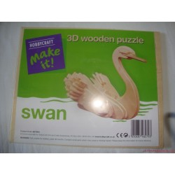 Hobbycraft make it! - 3D fa puzzle készlet - hattyú