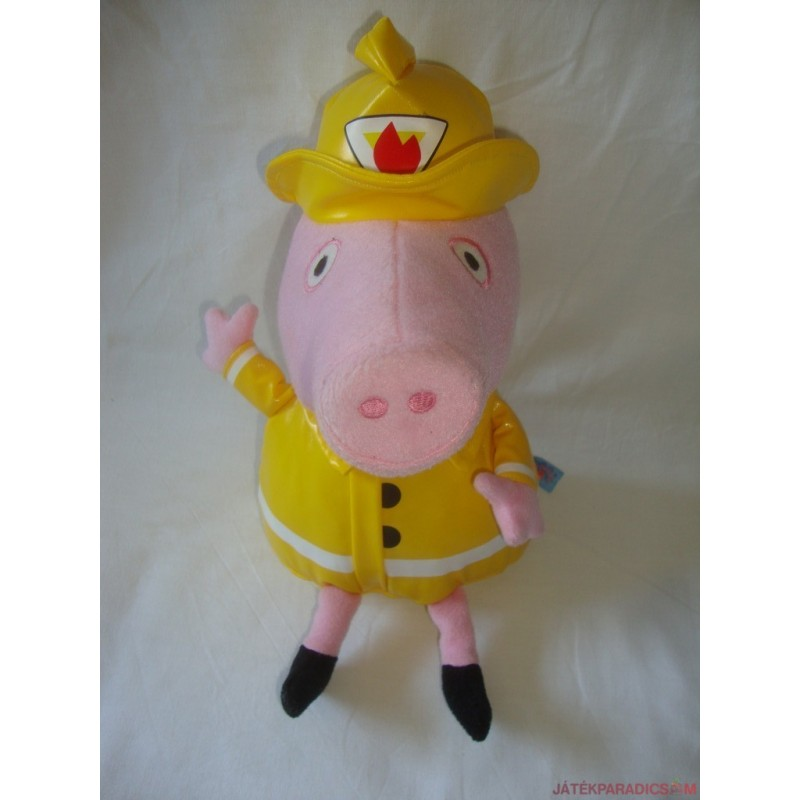 Peppa Pig plüss malac tűzoltó
