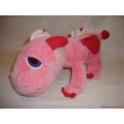 Rózsaszín nagyszemű plüss dinosaurus