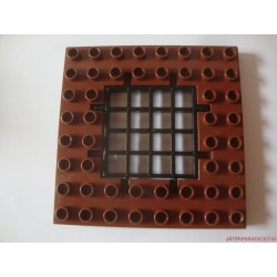 Lego Duplo barna alaplap rácsos ajtóval