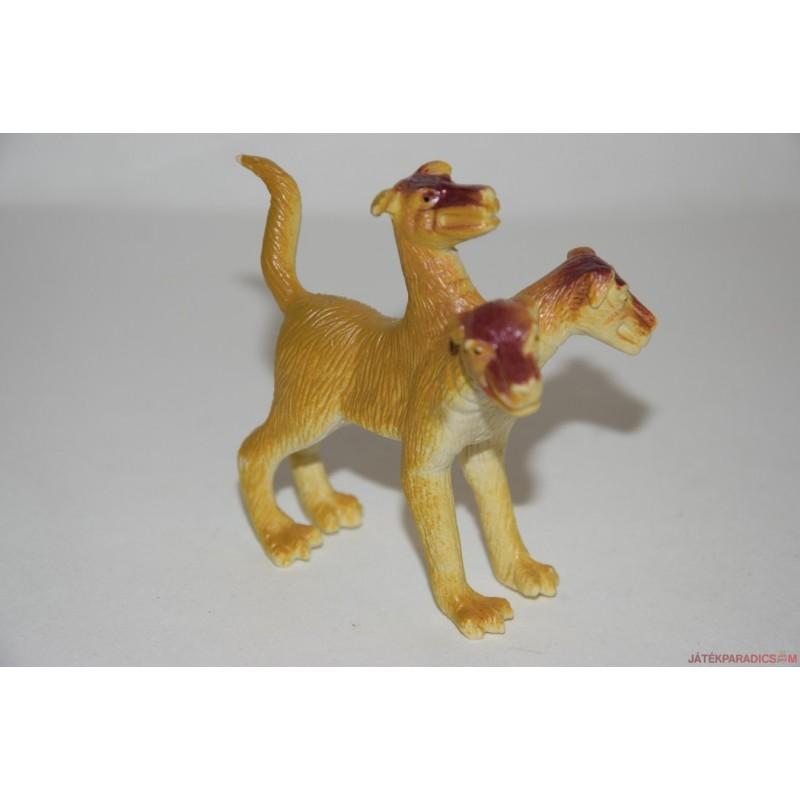 Háromfejű kutya gumifigura