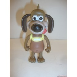 Wallace & Gromit aminációs filmből Gromit gumifigura