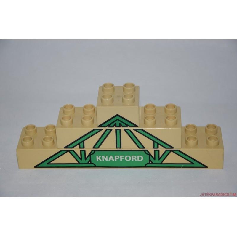 Lego Duplo KNAPFORD íves tető képes elem