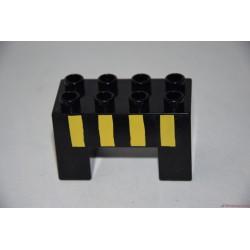 Lego Duplo U alakú fekete elem